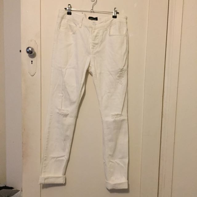 White Ripped Skinnies