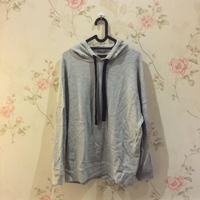 Zara Long Grey Hoodie