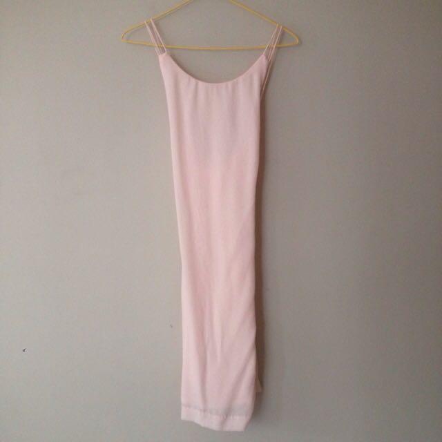 Zara Pink Backless Dress