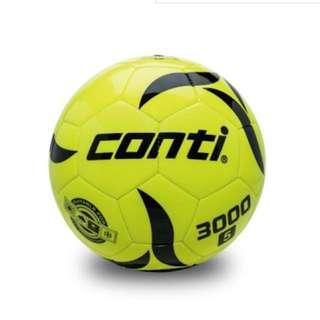 【足球福利社】CONTI螢光專用足球(5號球) 黃 綠 藍 橘