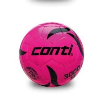 【足球福利社】CONTI螢光專用足球(5號球) 粉紅 水藍