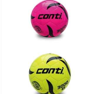【足球福利社】CONTI螢光專用足球(3號球) 黃 綠 藍 橘 水藍 粉紅