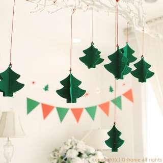 韓國 聖誕節 派對用品 餐廳 幼兒園 節日裝扮 佈置 立體聖誕樹 掛飾 裝飾 佈置 聖誕佈置