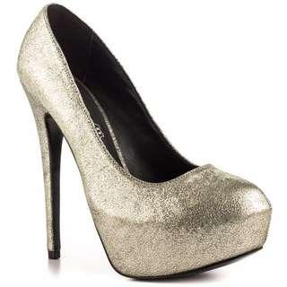 Golden Silver heels