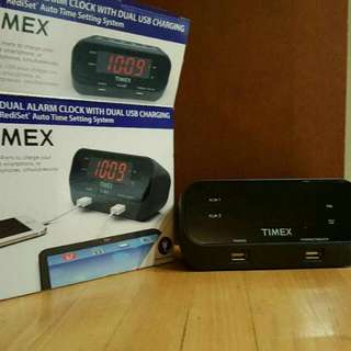 Timex Alarm Clock With Dual USB Charging