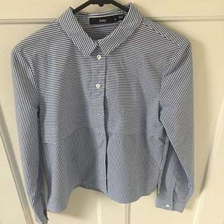 SPORTGIRL button up Stripped Top
