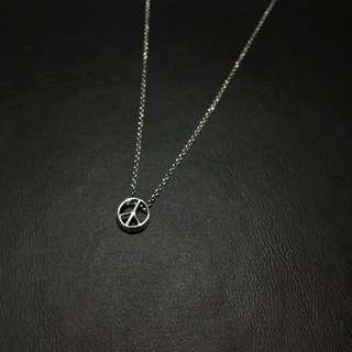 🚚 ☮️設計款 日本帶回 925純銀 反戰 和平標誌 項鍊墜子 鎖骨鍊 銀飾