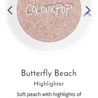 Colourpop Highlighter- Shade Butterfly Beach