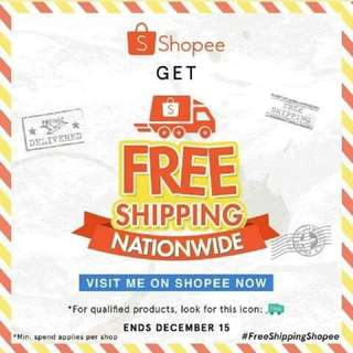 FREE SHIPPING ON SHOPEE 👍🏼