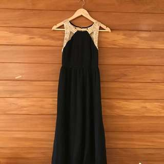 Black And Gold Ball Dress Size 6/8
