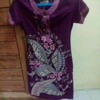 Batik Dress Violet