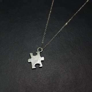 🚚 ☑️設計款 925純銀 個性拼圖 項鍊墜子 銀飾