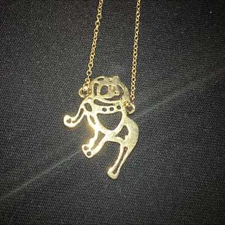 PUG Gold Necklace