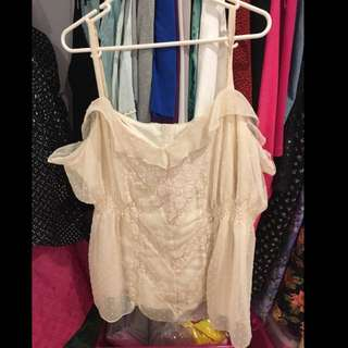 City Chic size XL Cream Lace Top