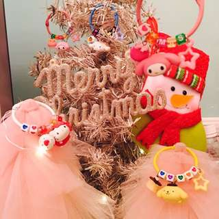 🎄聖誕限時優惠#客製-三麗鷗美樂蒂/布丁狗/kitty/大耳狗/my Sweet piano 字母鑰匙圈