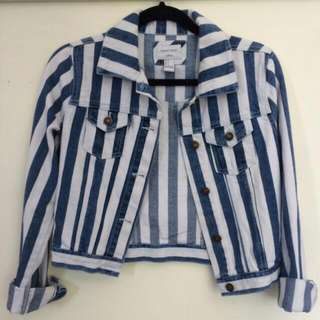 ISO (Striped Denim Jacket)!!!!!