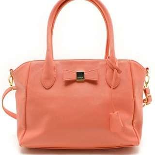 🚚 日本購入🌸粉橘2WAY手提側背包