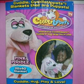 Cuddle Uppets Pink Poodle Blanket