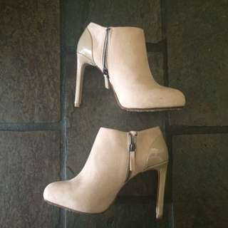Nude Platform Shoe-booties