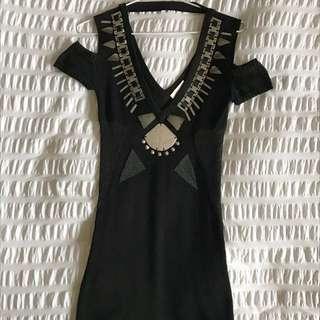 Sass and Bide Black Mini Dress Size 6