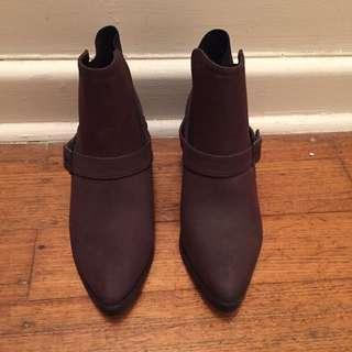 Size 8 Spurr, Burgundy & Black Ankle Boots