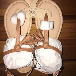 beige tassel sandal
