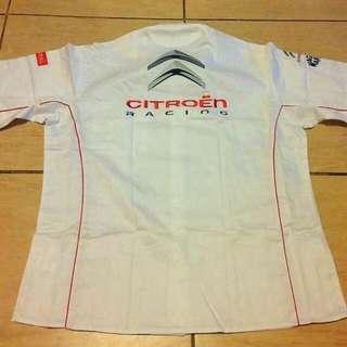 正版 Citroen Racing Team Shirt Wtcc Wrc 先進 賽車車隊 短袖 恤衫 XL