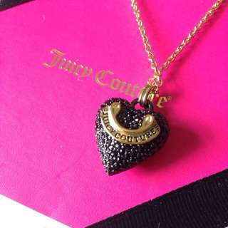 Juicy Couture Pave Heart Banner Pendant
