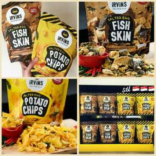 Salted Egg Potato Chips And Fish Skin (PO)