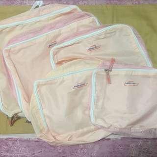 旅行收納袋 5件組 粉色