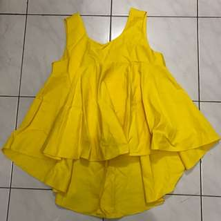 Yellow Babydoll Top