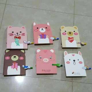 Cute Notebook And Adorable Pen Set