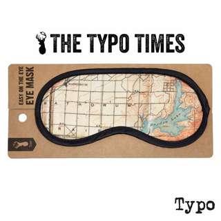 【現貨】澳洲Typo EASY ON THE EYE 復古地圖棉柔眼罩