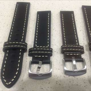 Sporty Watch Strap < Thick> Soft Leather