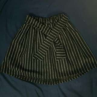 韓版綿直條窄裙