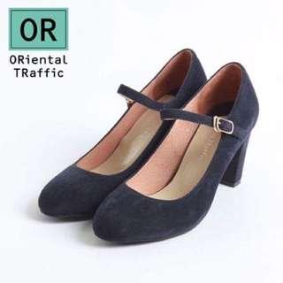 日本ORiental TRaffic粗跟瑪莉珍鞋