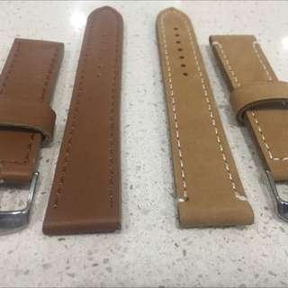 Brown Watche Straps 20mm