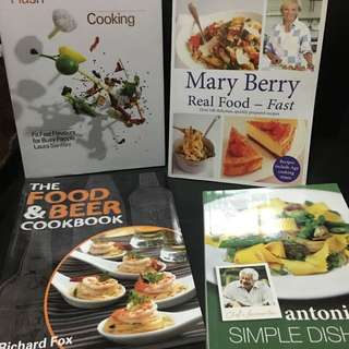 4 Cook Books - 18$