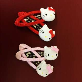 Baby Hairclip / Girl Hairclip / Cute Hello Kitty HairClips