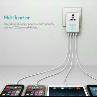 Brand New Unused 4 Port Usb Charger With Universal Power Plug Point Free Local Postage Til Stock Last