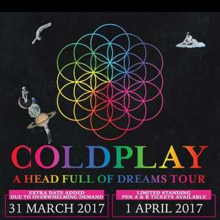 Tiket Coldplay A Head Full Of Dream Tours