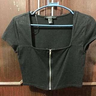 F21 Crop top (zipper)
