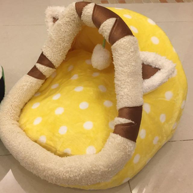 黃色豹紋寵物窩*貓窩
