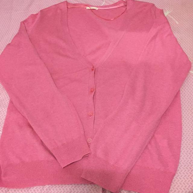 基本粉色薄外套