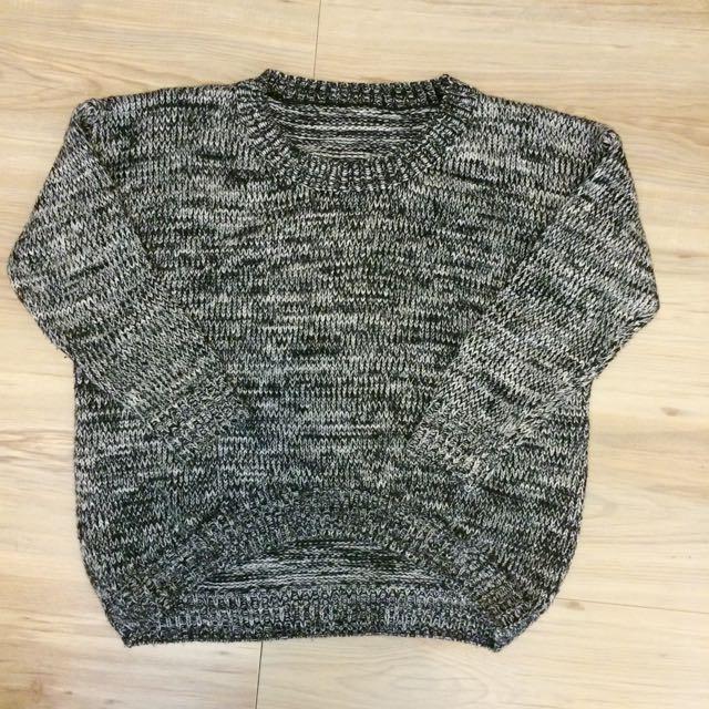 黑白織毛衣