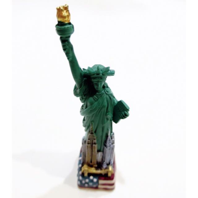 美國 自由女神 紀念小模型。