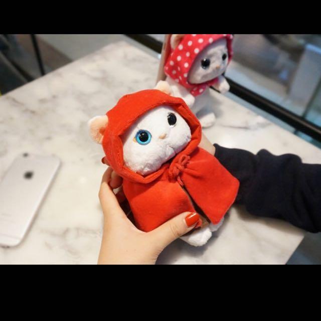 韓國甜蜜貓毛絨公仔 蘋果iphone6s可愛手機殼 plus貓咪保護殼
