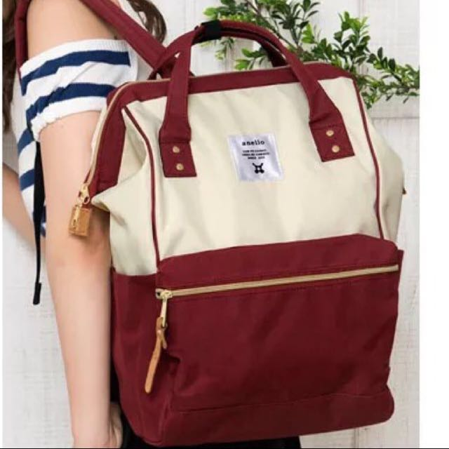 2c52109c67b Today Price: 3 Tags REAL Authentic Anello Bag Red And Cream Color From  Japan Big Baby Diaper Bag, Women's Fashion, Bags & Wallets on Carousell