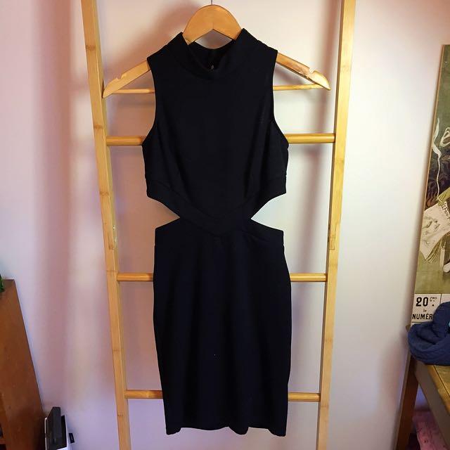 Asos Black Dress Petite Size 8