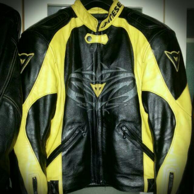 Authentic Dainese Leather Track Jacket  Size 48
